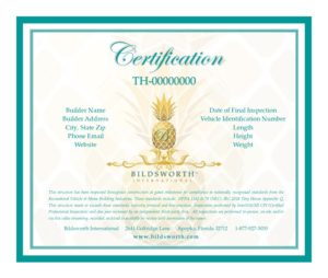 Bildsworth Certification Compliance